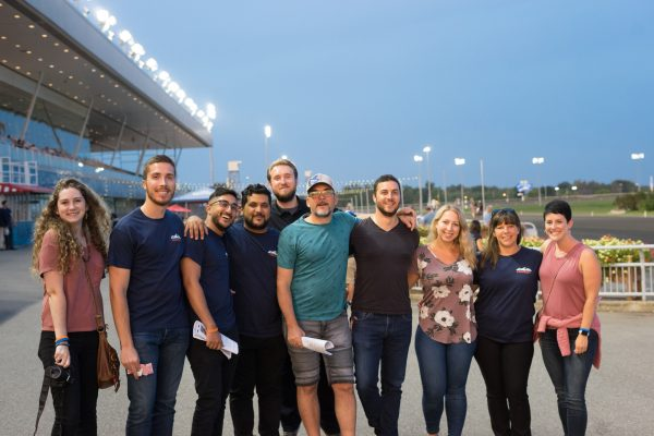 Javelin employees head to the racetrack for fun and friendly competition.