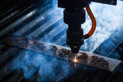 Laser system cutter smoke and particulate
