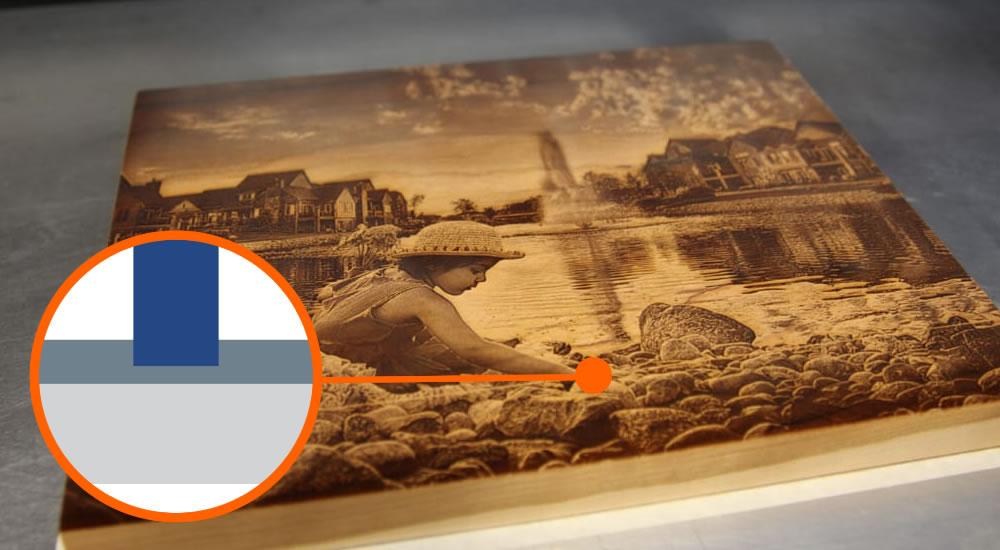 Laser wood photo