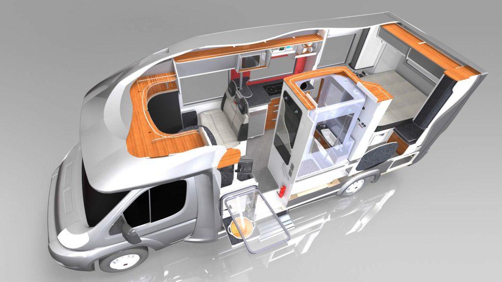 Motorhome SOLIDWORKS Visualize rendering