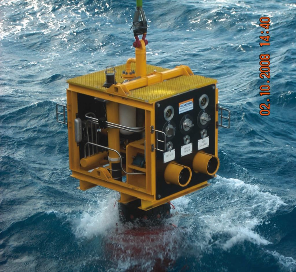 Oceaneering equipment deployment