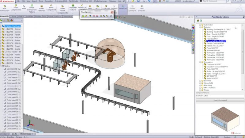 PlantWorks Plant Design Add-in for SOLIDWORKS software