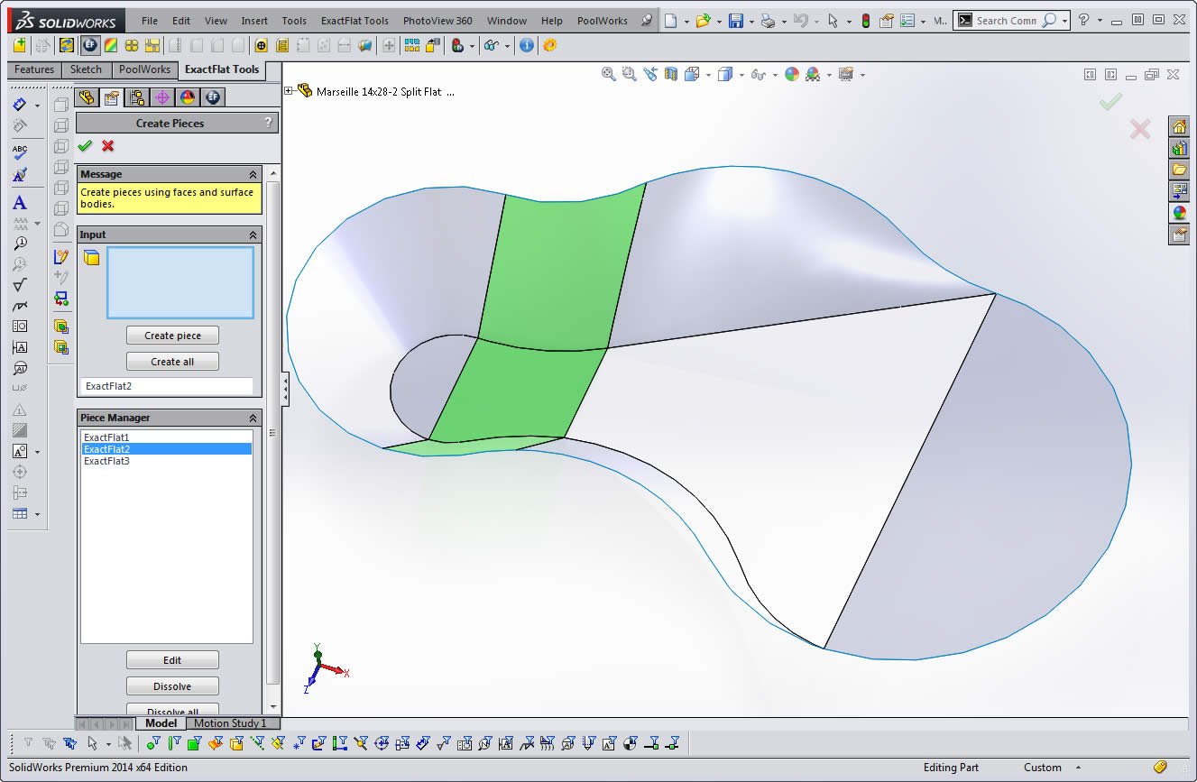 Pool pattern pro solidworks add in software for liner for Pool design pattern