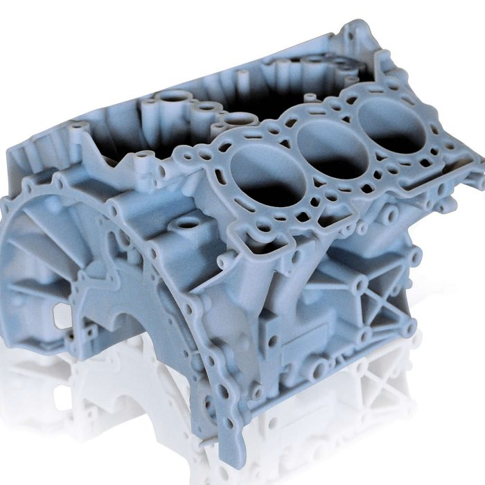 Stratasys Rigid Opaque engine block in Vero Material