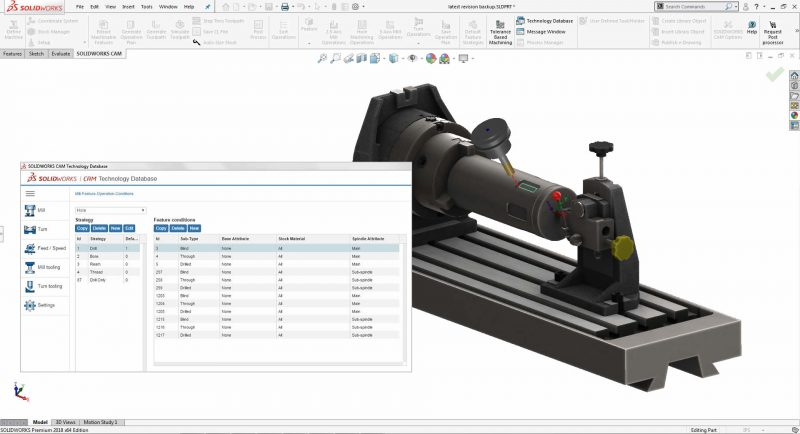 SOLIDWORKS CAM Feature Recognition
