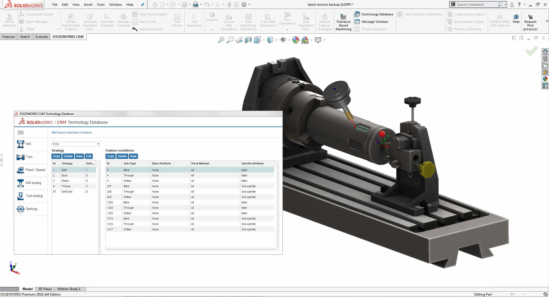 SOLIDWORKS CAM Standard Knowledge Based Machining Software