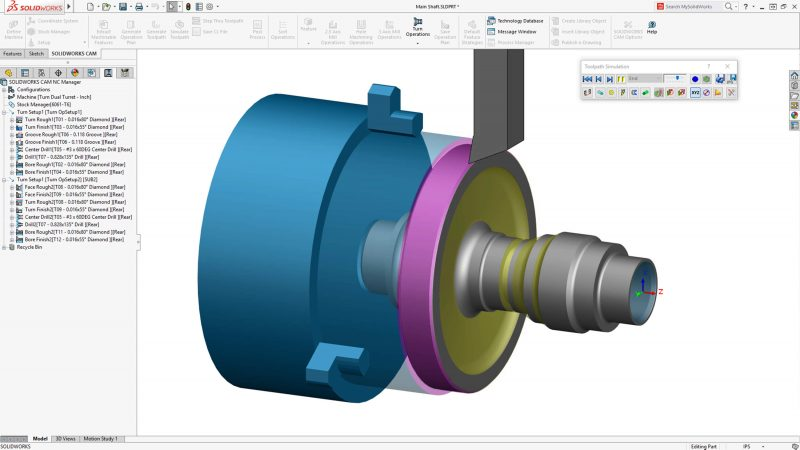 SOLIDWORKS CAM Professional Turning