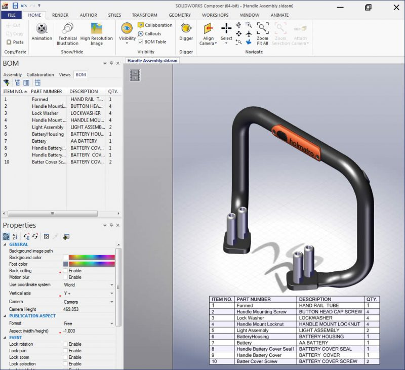 SOLIDWORKS Composer software to create Technical Documentation