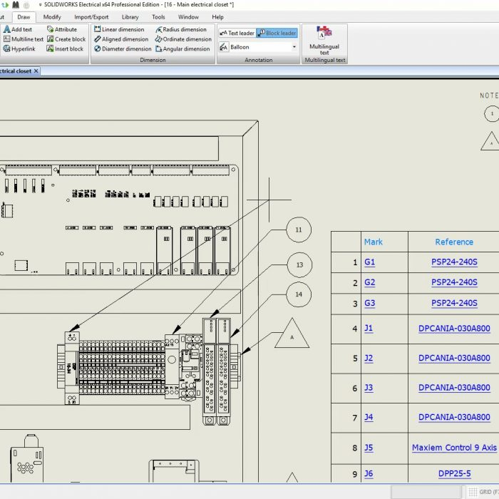 SOLIDWORKS Electrical 2020 leader lines
