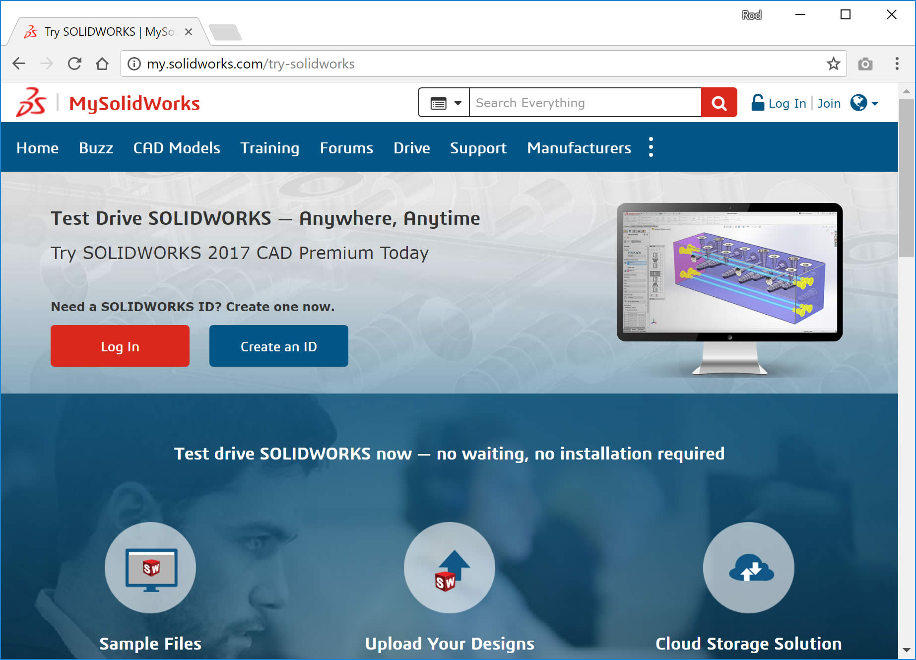 Solidworks visualize free trial available online with mysolidworks.