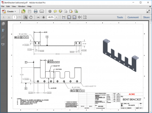 SOLIDWORKS Inspection Bracket Example