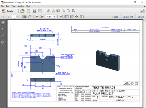 SOLIDWORKS Inspection Clamp Example
