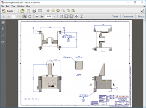 SOLIDWORKS Inspection Coupling Assembly Example