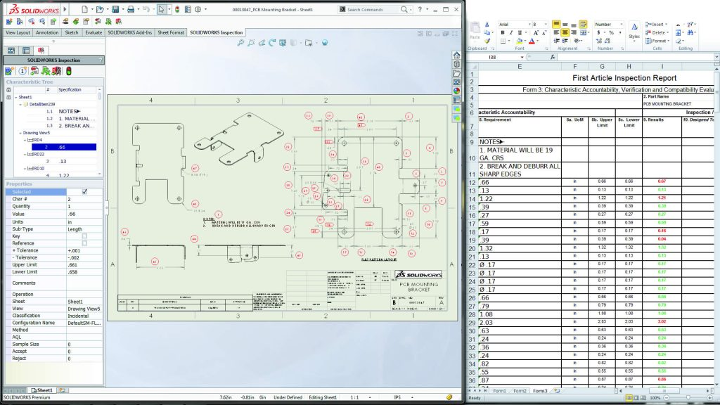 SOLIDWORKS Inspection Example