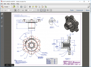 SOLIDWORKS Inspection Flange Example