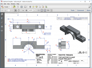 SOLIDWORKS Inspection Holder Example Motor Clamp