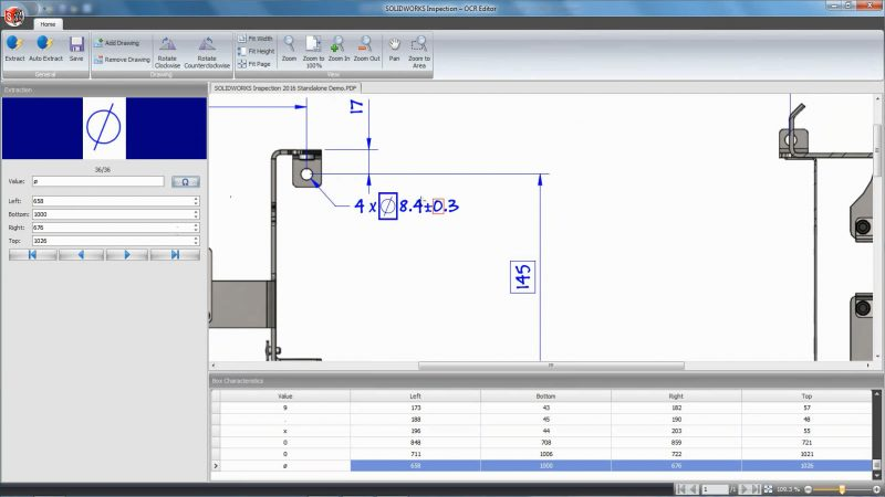 SOLIDWORKS Inspection OCR