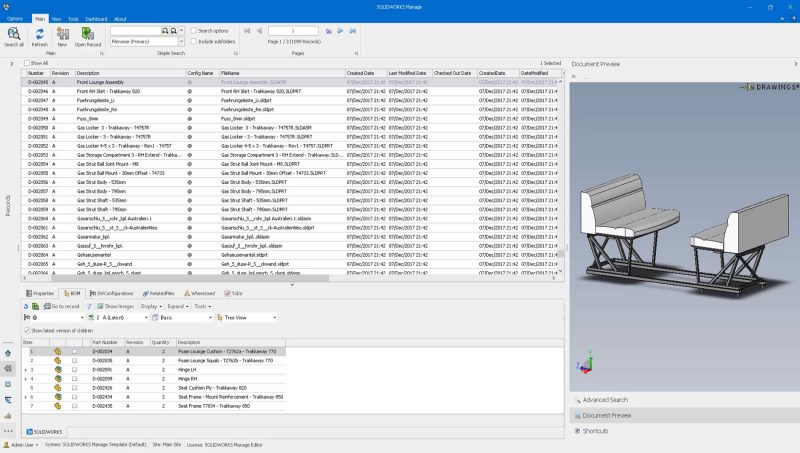 SOLIDWORKS Manage Item Management