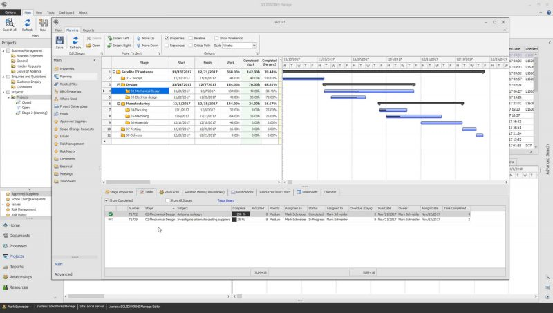 SOLIDWORKS Manage 2019 Project Management