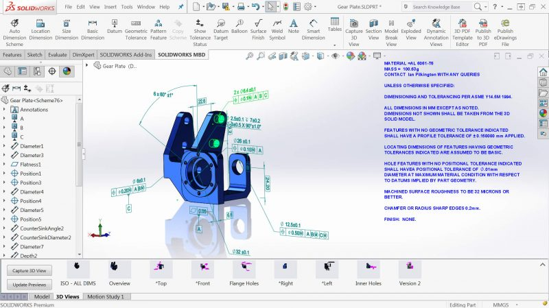 SOLIDWORKS MBD 3D Data