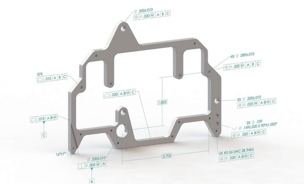 SOLIDWORKS MBD Example Battery Plate