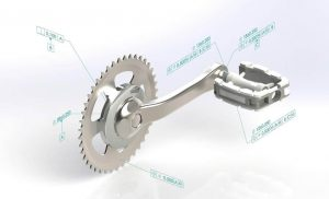 SOLIDWORKS MBD Example Pedal Arm
