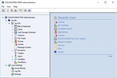 SOLIDWORKS PDM Admin