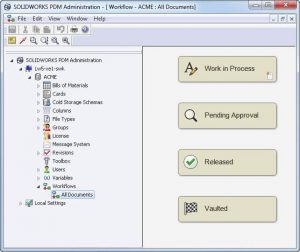 Workflow design with the Administration Tool