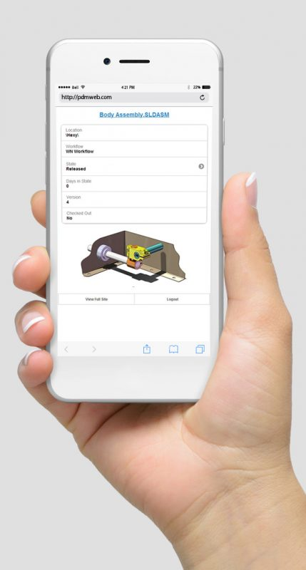 SOLIDWORKS PDM Web Phone
