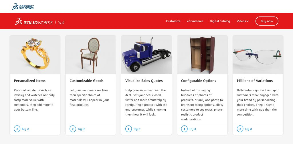 SOLIDWORKS Sell eCommerce Examples