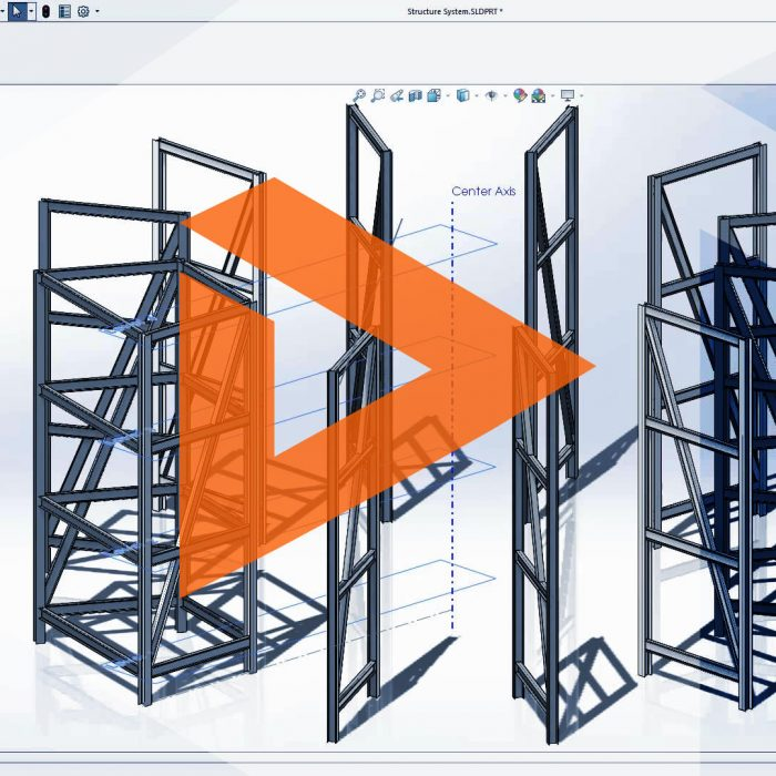SOLIDWORKS Structure System Tab and Slot