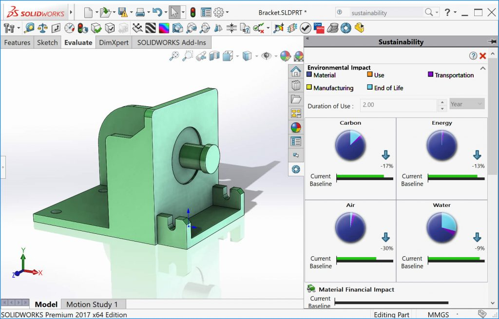 SOLIDWORKS Sustainability Add-in