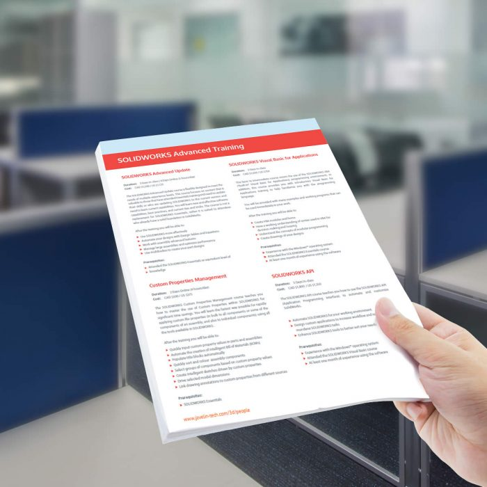 SOLIDWORKS Training Price List