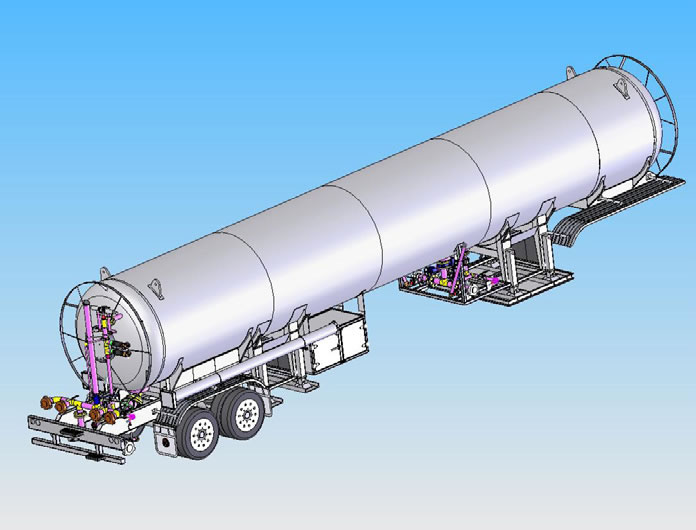 Tank trailer design in SOLIDWORKS