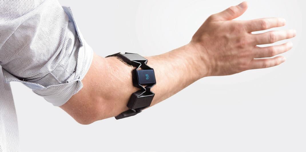 Myo gesture control armband solidworks