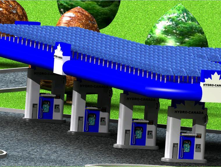 Hydrogen Gas Station Design Concept