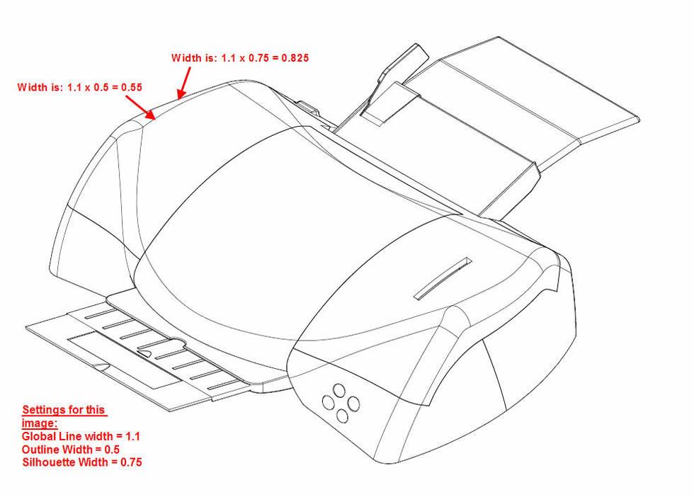 3DVIA Composer Line Widths Example 3