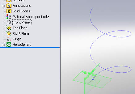 Helix/Spiral Feature for Sweep Path