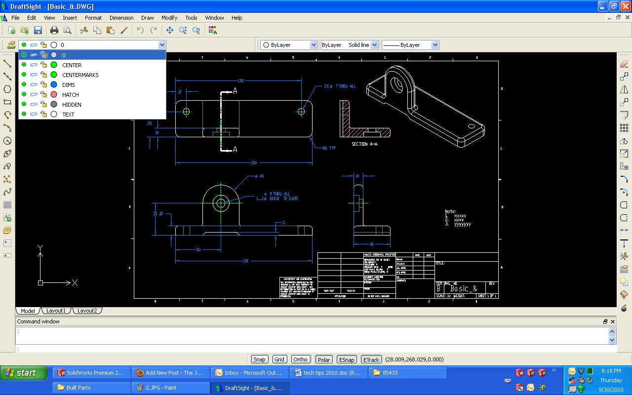 Using Layer Mapping When Exporting Dwg Dxf From Solidworks