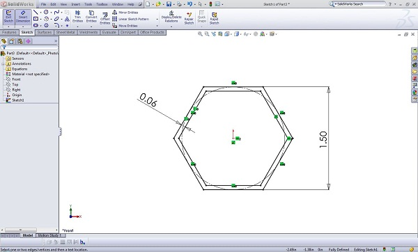 Create your Weldment Profile Sketch