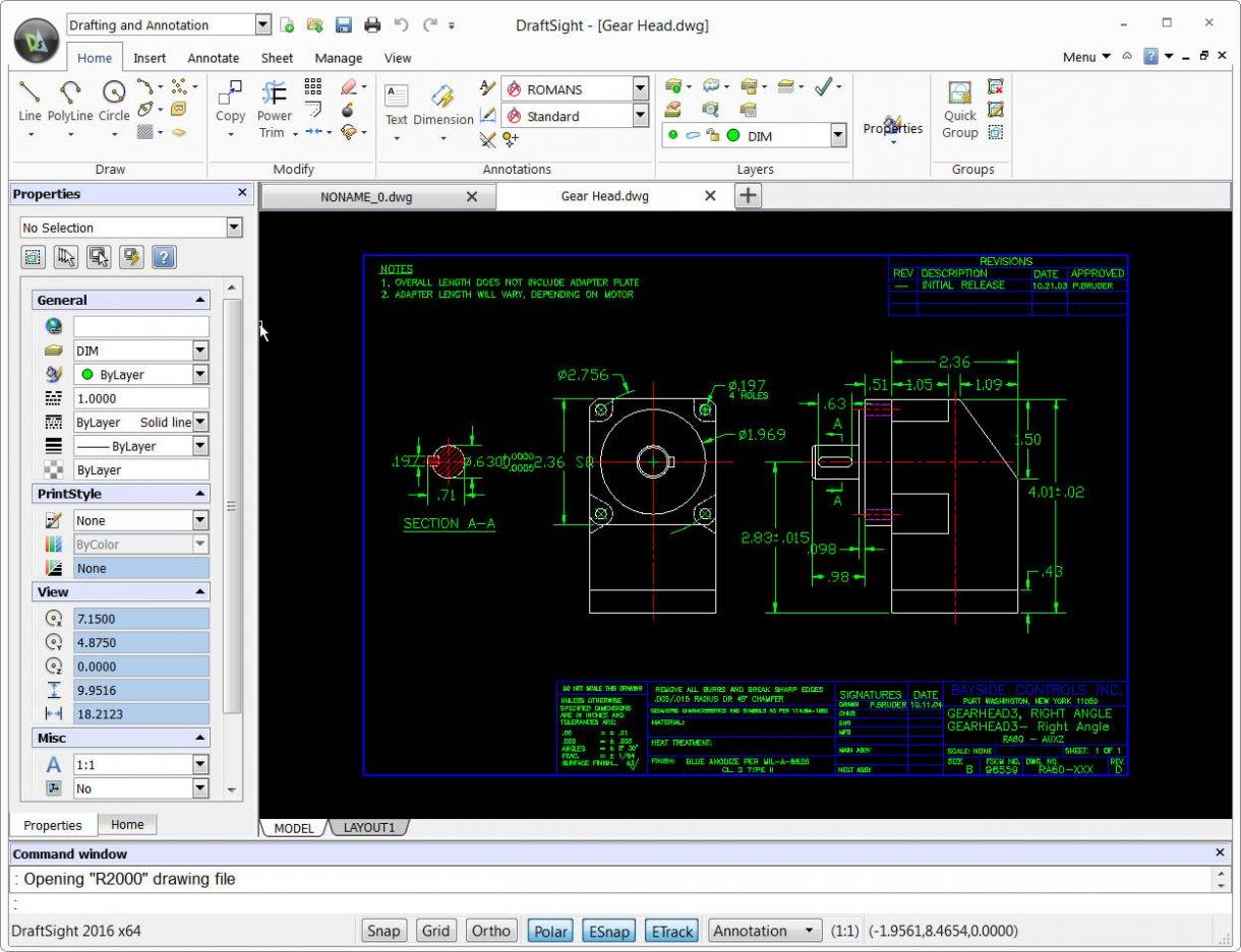 DraftSight AutoCAD FREE Download