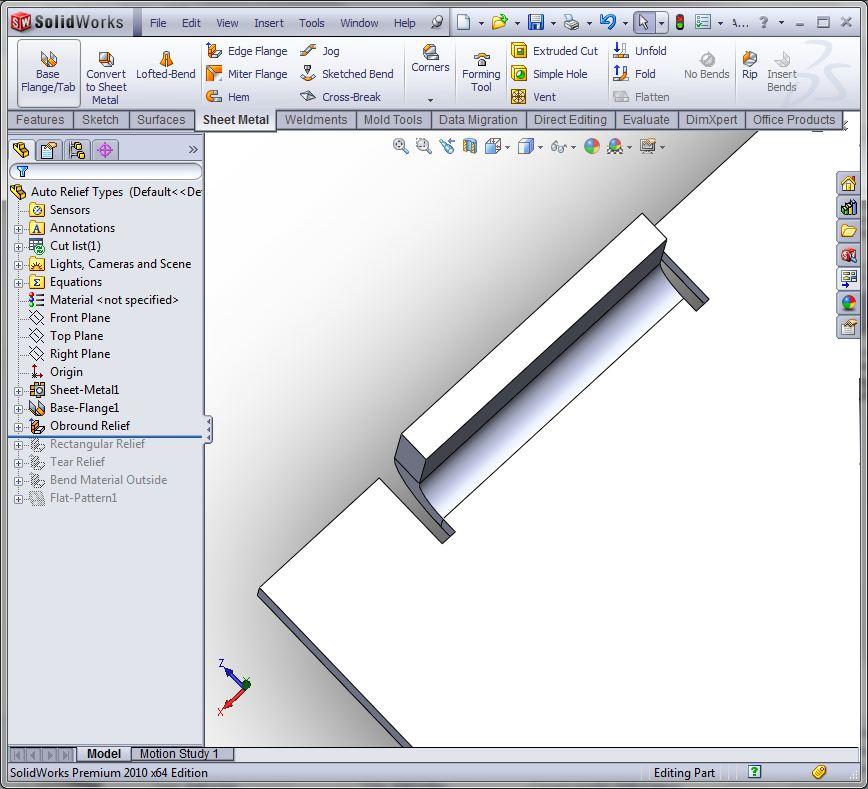 Auto Vs Corner Relief In Solidworks Sheet Metal