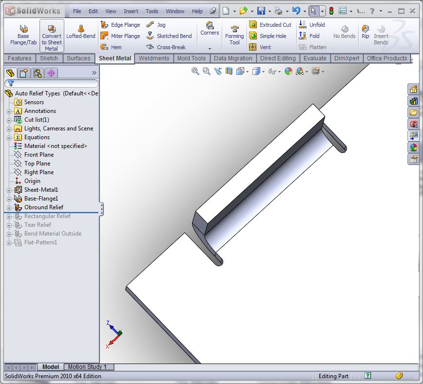 Auto Vs Corner Relief In Solidworks Sheet Metal