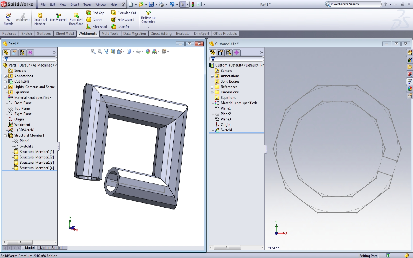 Updating Changes To Your Custom Weldment Profiles