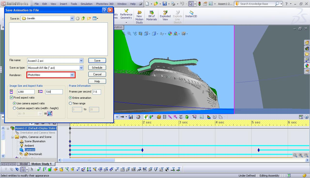 Solidworks photoview 360 video rendering example best practices save animation to file baditri Image collections