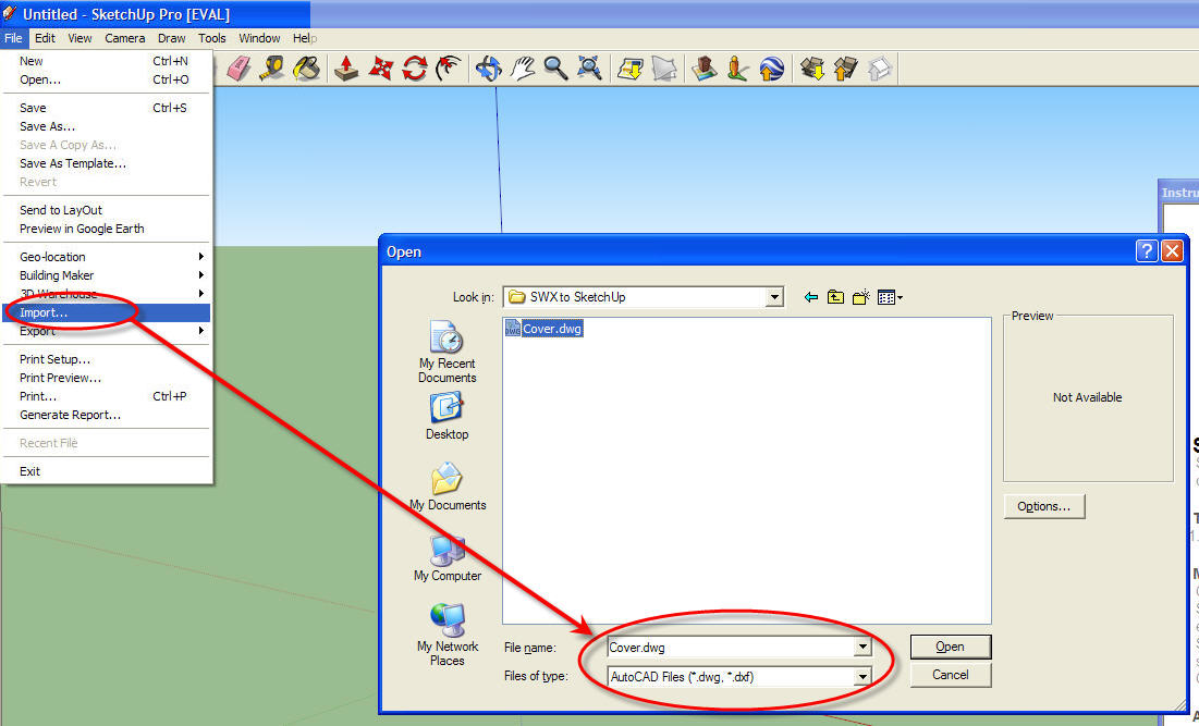 How to export a model from solidworks to google sketchup for Sketchup import