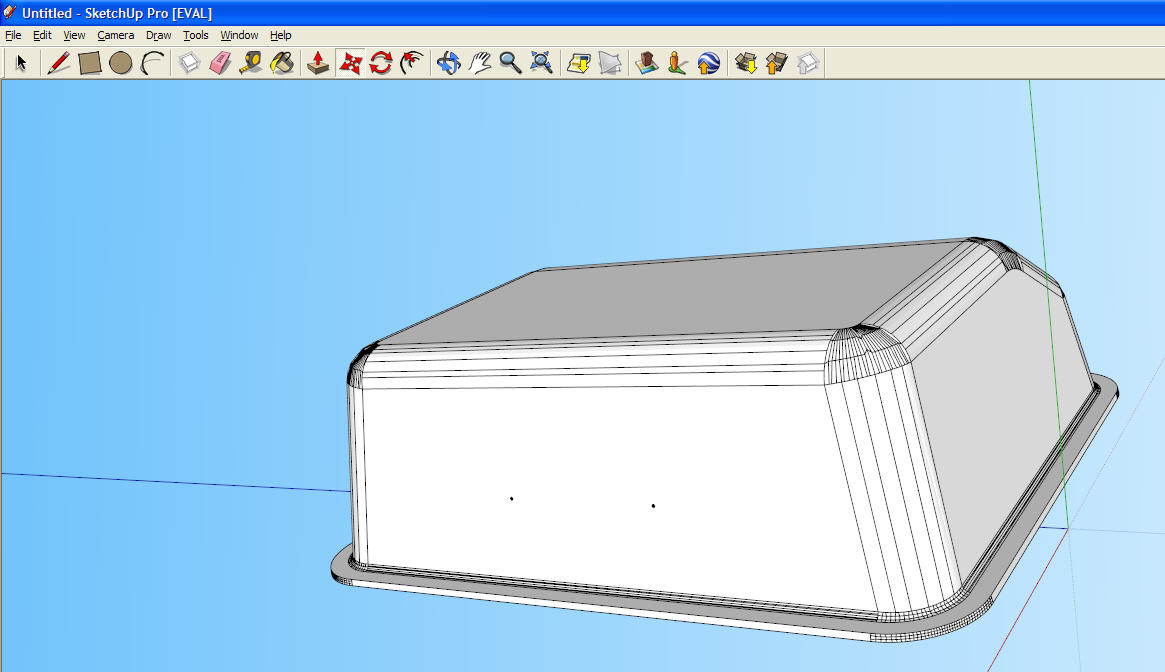 Model imported into Google SketchUp