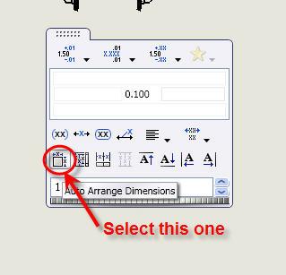 Select Auto Arrange Dimensions