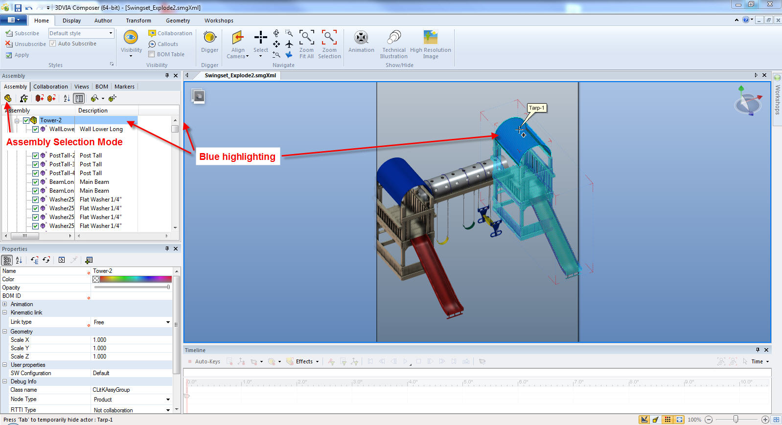 SOLIDWORKS Composer Assembly Selection Methods