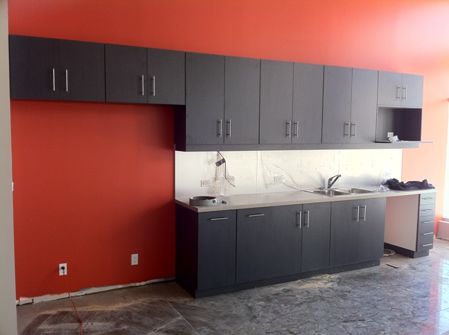 Cabinets in the cafe